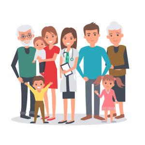 famille patients infirmière